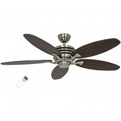 modern ceiling fan Eco Gamma, 103 Cm, wenge - black ultra economical, remote control