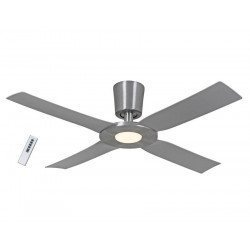 Eco Disk, ceiling fan 142 Cm aluminum with led 18 Watts and remote control