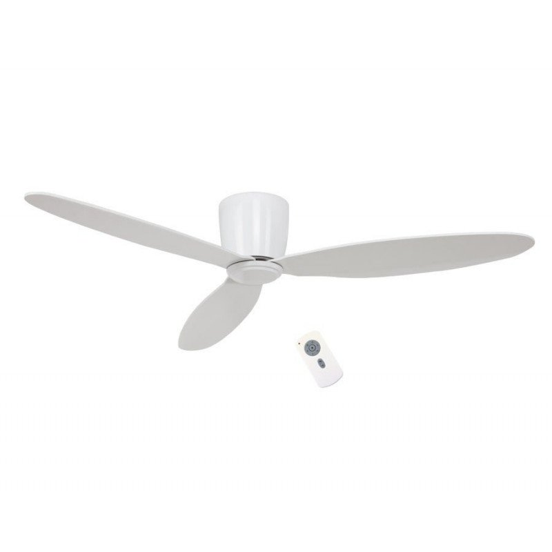 Ceiling Fan, DC, modern, 132 Cm. white lacquer, remote control, CASAFAN Eco Plano WE