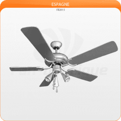 Ceiling Fan 132 cm, 3 powerful spots, gray silver blades.Ceiling Fan 132 cm, 3 powerful spots, gray silver blades.