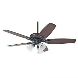 Builder plus - Ceiling Fan, new bronze, Brazilian Cherry/Yellow Walnut 132 Cm, silent, 3 tulips, Hunter