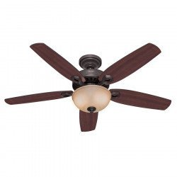 Builder Delux NB, Ceiling Fan new bronze, blades Brazilian cherry/yellow walnut, 132 Cm silent, Hunter