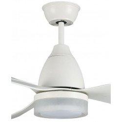 DC Ceiling fan, 137 Cm, reversible, remote control, led lamp, white, Eden