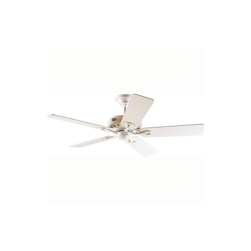ceiling fan, Hunter Savoy, white and white blades, silent, 132cm