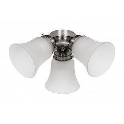 Light Kit for ceiling fans Light Elements 6 Eco versions, Carribean Dream, satin star, royal, etc. merkur (Chrome)