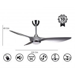 Helix from KlassFan limited DC ceiling fans designer series, more compact, ultra powerful, with LED lighting system