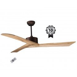 "Ceiling Fan DC Motor, 152 cm/59.8"" Solid Wood Blades, Ultra Quiet, Klassfan RACINE"