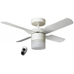 Ceiling Fan, Multimax WE, 132 Cm. modern, with light, remote control blades white / maple CASAFAN