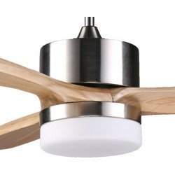 DC Motor Ceiling Fan, 132 Cm Solid Wood Blades, LED Light, For Large Ultra Quiet Parts, ARIME KlassFan