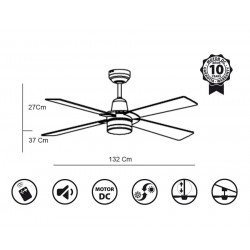 Electra by KlassFan limited DC ceiling fans designer series, more compact, ultra powerful, with LED lighting system