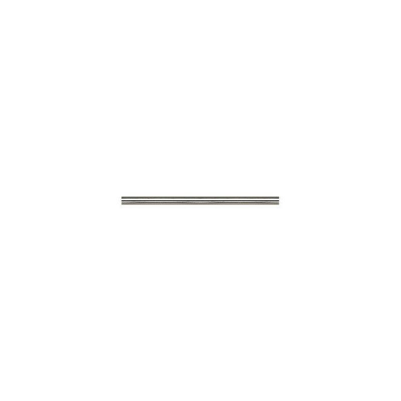 Modulo down rod 60 Cm Brushed Chrome