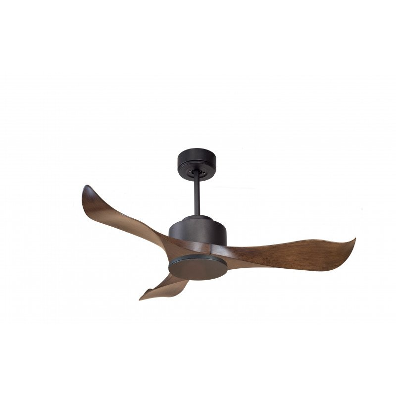 Modulo by KlassFan - Ceiling Fan DC Ceiling Light Gray Basalt and Wood Ideal for 20 to 30 m² KL_DC1_P1Wo