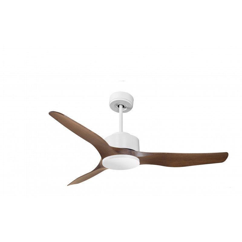 Modulo by KlassFan - DC Ceiling Fan without Light White lacquered and wood ideal for 25 to 40 m² KL_DC4_P4Wo