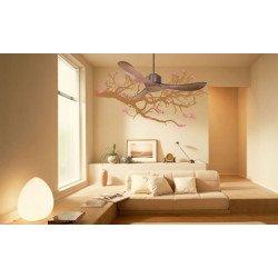 KlassFan Modulo - DC Ceiling Fan without Light Wood color ideal for 25 to 40 m² KL_DC2_P3Wo