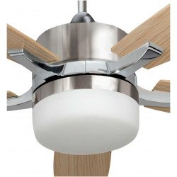 Large ceiling fan chrome and pine / venge 132 Cm with powerful light and remote control .