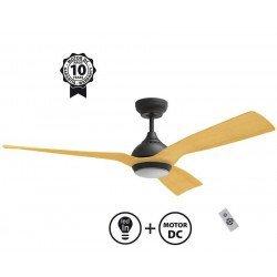 Ceiling Fan DC Motor, 132 Cm , Ultra Quiet, Klassfan Waterwind, with LED Light