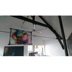 Very large size modern aluminum destratifier ceiling fan DC 236 Cm KlassFan Bigcool eco 236