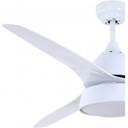 Ceiling fan 132 Cm,White, with powerful lighting, and remote control