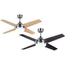 Elysa, ceiling fan 112 Cm chrome reversible blades venge/ gray, with Led lamp and remote control