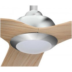 Hackney Lba Home ceiling fans DC 132 Cm design, beech blades, very quiet, ultra powerful, with LED plate