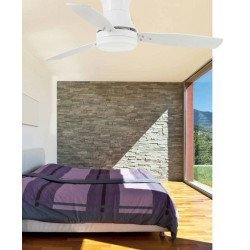 Modern Ceiling Fan 107 cm white, with light, remote control TONSOY from LBA home