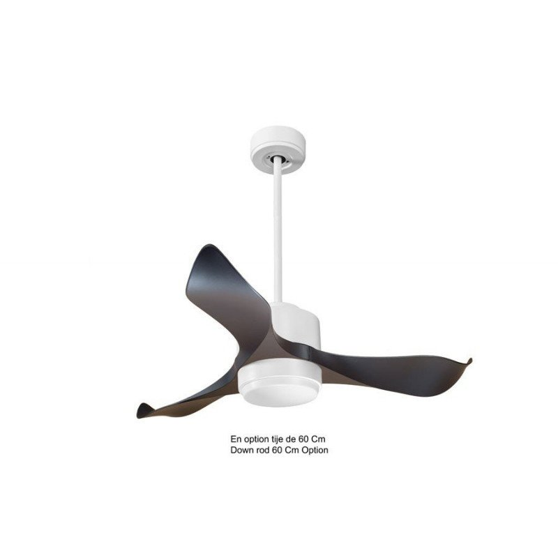 KlassFan Modulo - air destratification fan White and Black with Light Ideal for 20 to 30 m² KL_DC4_P1Bk_L1Wi