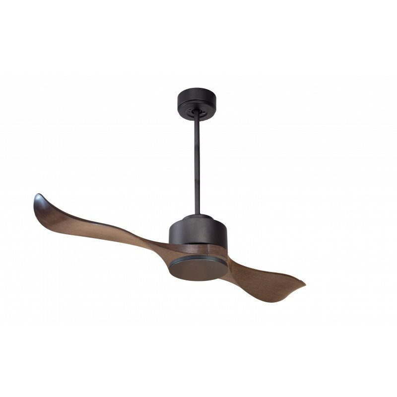 Modulo by KlassFan - Ceiling Fan DC Ceiling Light Gray Basalt and Wood ideal for 25 to 40 sqm KL_DC1_P2Wo