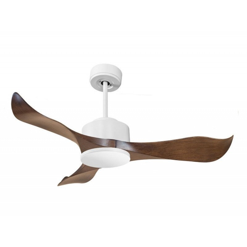 Modulo by KlassFan - Super air destratification fan without Light White and Wood Ideal for 20 to 30 m² KL_DC4_P1Wo