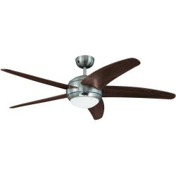 Ceiling Fan 132 cm, wenge with light and remote control