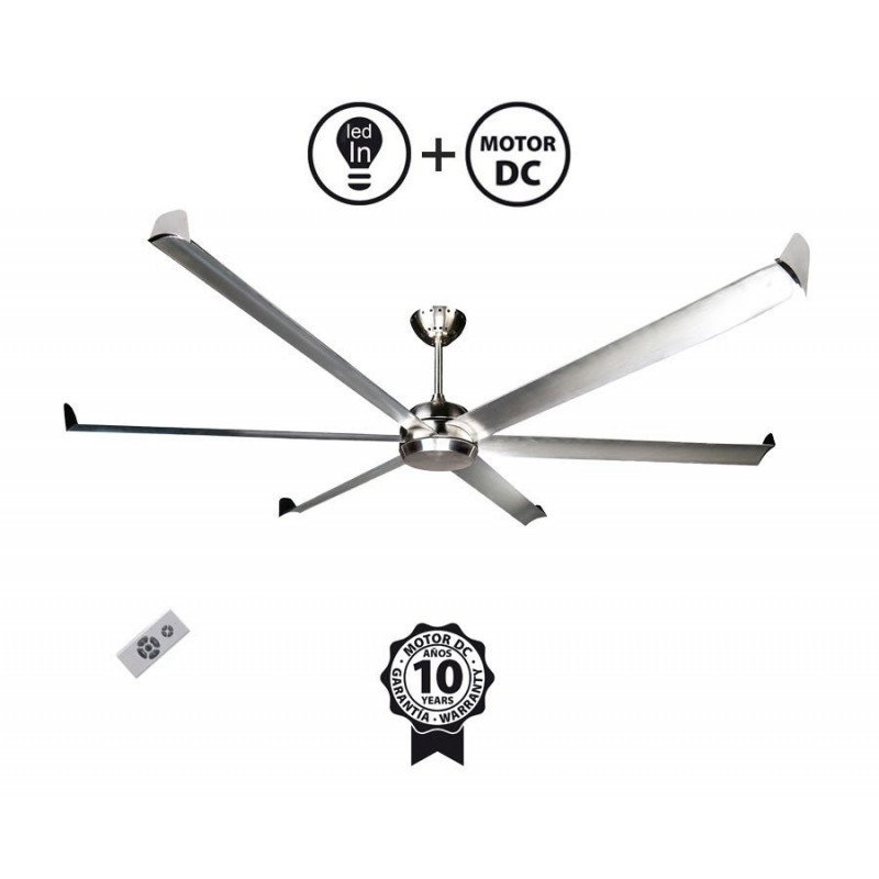 Very large size modern aluminum destratifier ceiling fan DC 236 Cm KlassFan Bigcool eco 236
