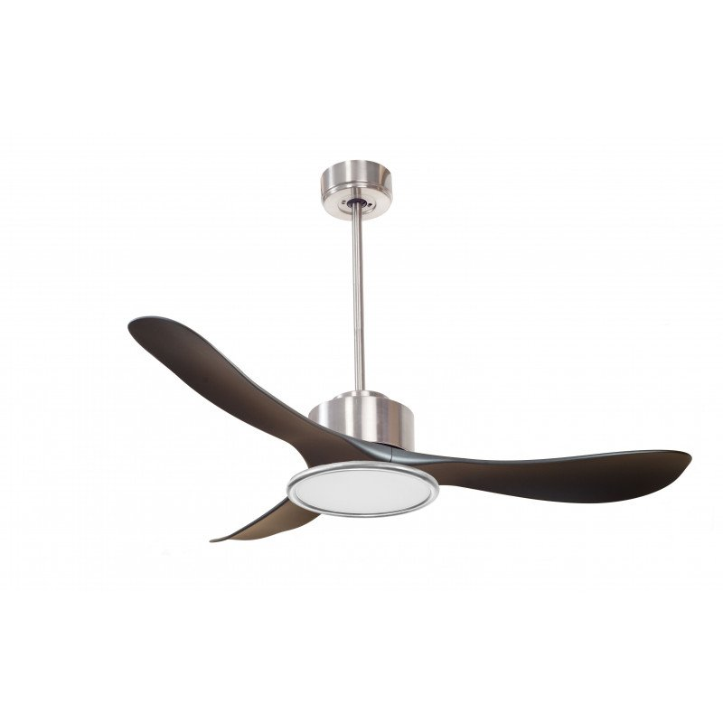 Modulo by KlassFan - air destratification fan with Chrom and black ideal for 25 to 40 m² KL_DC3_P3Bk_L2CH