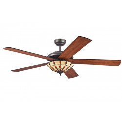 Ceiling Fan 132 cm, with light, blades wenge / cherry.