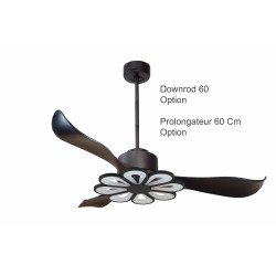 Modulo by KlassFan - DC Ceiling Fan, black, with light, ideal for 25 to 40 m² DC1_P2bk_L4bk