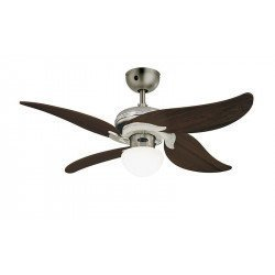 Ceiling Fan 107 cm, lamp, remote control, aged oak blades.
