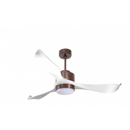 Modulo by KlassFan - DC Ceiling Fan with Light Wood and white ideal for 25 to 40 m² KL_DC2_P2Wi_L1Wo