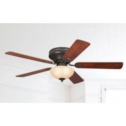 Ceiling Fan 132 cm, with light, reversible blades