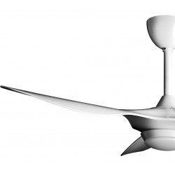 Helix II from KlassFan, a compact, ultra-powerful DC ceiling fan, 3-tone LED, thermostat