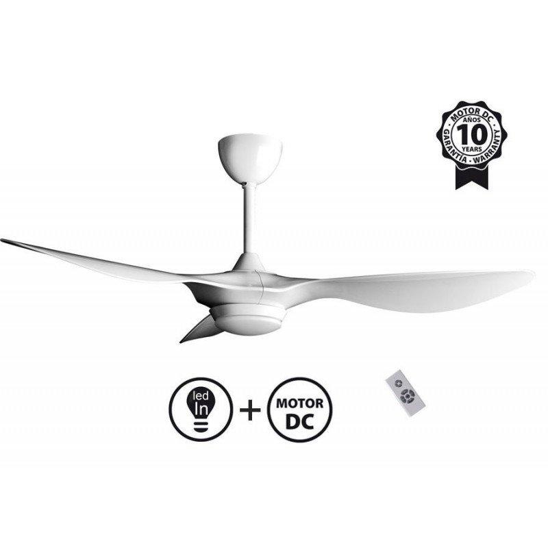 Helix II from KlassFan, a compact, ultra-powerful DC ceiling fan, 3-tone LED, thermostat
