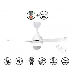 Costos by KlassFan's - a ultra quiet DC ceiling fan with a thermostat