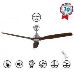 Soft by KlassFan - a DC ceiling fan 152 Cm, ultra silent, wooden blades