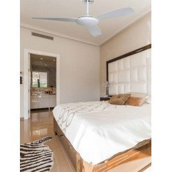 KlassFan's Fresco - a DC ceiling fan, ultra silent, with thermostat