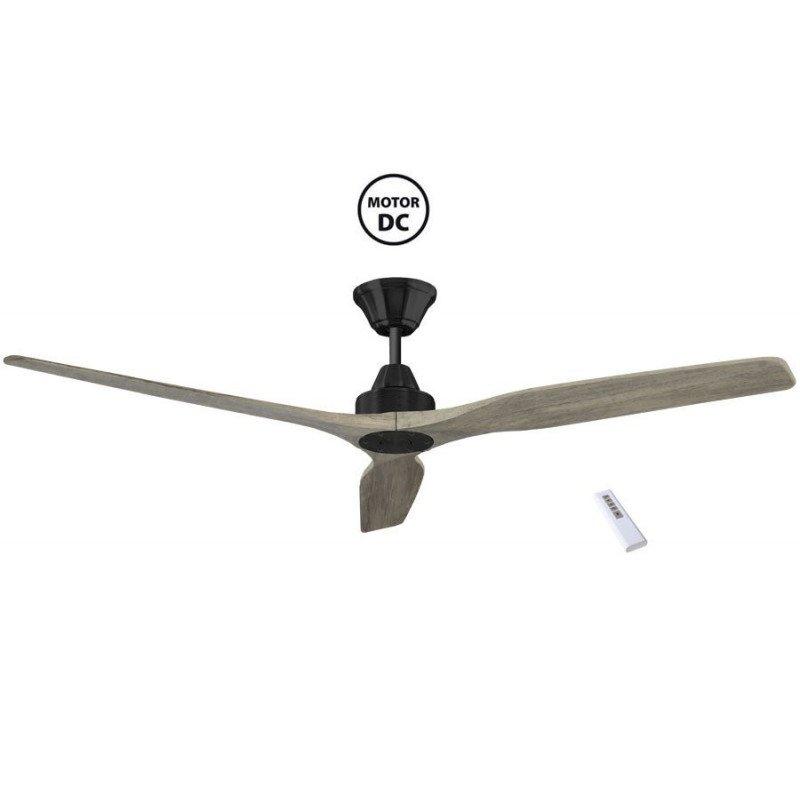 Soft by KlassFan - a DC ceiling fan 152 Cm, ultra silent, pale oak blades