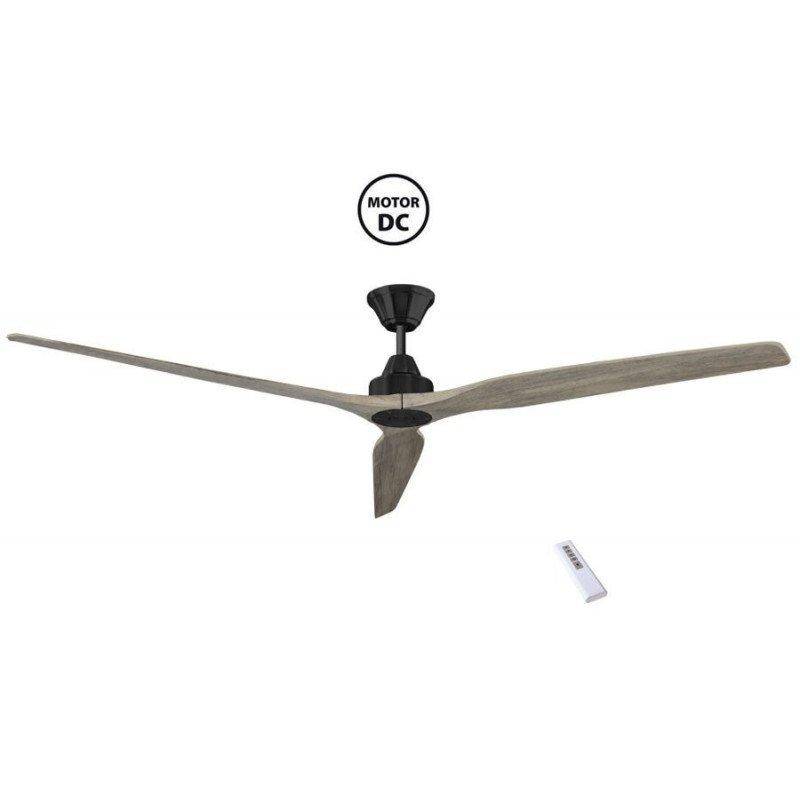 Soft by KlassFan - a DC ceiling fan 178 Cm, ultra silent, pale oak blades