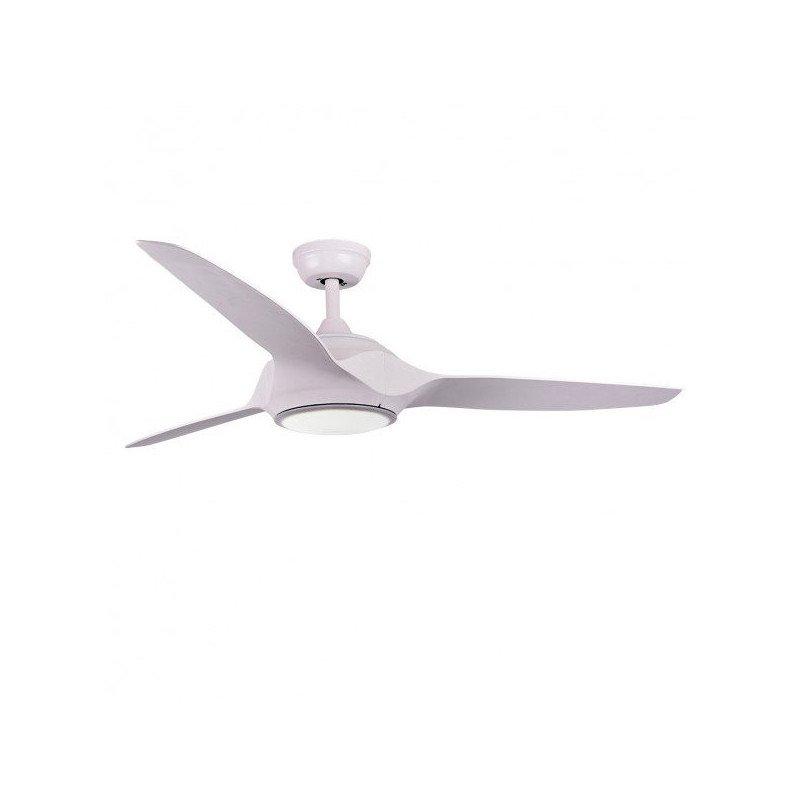 Modern ceiling fan, 132 cm. white, LED, remote control IR