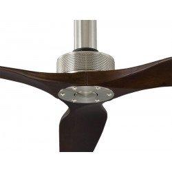 Sofyt de KlassFan un ventilateur de plafond DC 152 Cm design, pales noyer sombre, ultra silencieux.