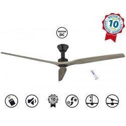 Softy by KlassFan a ceiling fan DC 178 Cm design, oak blades ultra quiet.