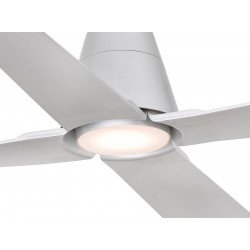 Outdoor DC ceiling fan, IP 44, silver color, 130 cm with LED light FARO Typhoon 33490