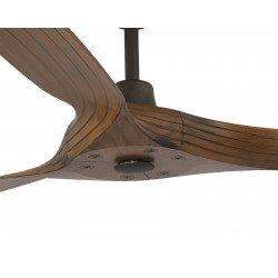 """ceiling fan design 152 cm/60"""". Blades imitation walnut wood,  crankcase basalt grey Morea Dark Wood"""