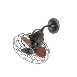 Ceiling /wall fan Keiki diam. 43 Cm Basalt, Walnut, an original retro fan.