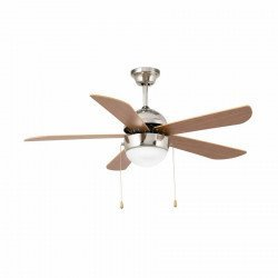 Classic ceiling fan matt nickel-plated 107 cm with lamp FARO VENETO 33319